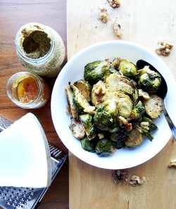 Brussels Sprouts in Honey Mustard