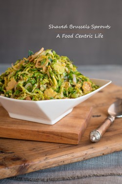 Brussels Sprouts Salad with Pancetta and Pine Nuts