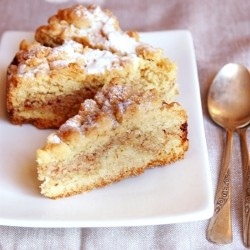 Cake with ricotta and amaretti