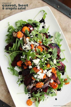 Carrot, Beet and Arugula Salad