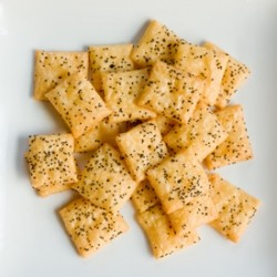 Cheddar and Asiago Poppy Seed Crackers Recipe