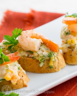 Cheesy Shrimp Tea Sandwiches Recipe