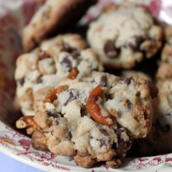 Chocolate Chip Pretzel Peanut Butter Chip Cookies