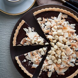 Chocolate Coconut Macadamia Nut Tart