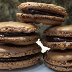 Chocolate Macarons with Chocolate Ganache Filling