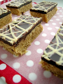 Chocolate Peanut Butter Slices