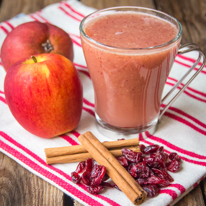 Cranberry and Apple Hot Smoothie