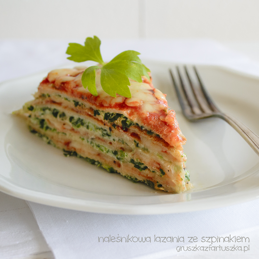 Crepes Lasagne with Spinach