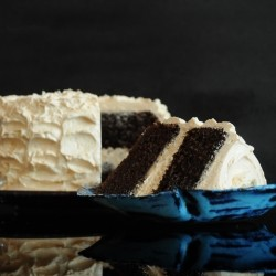 Dark Chocolate Layer Cake with Burnt Orange Buttercream Recipe