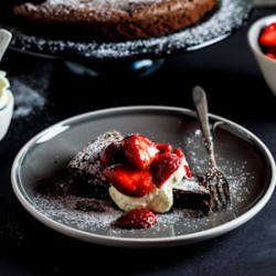 Dark Flourless Chocolate Torte Recipe