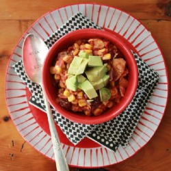 Easy Slow Cooker Chicken Taco Chili