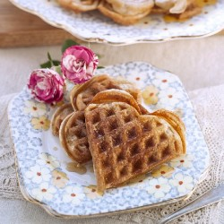 Easy Sourdough Waffles