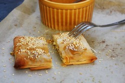 Feta Filo Pies with Honey