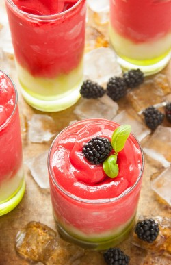 Frozen Blackberry Basil Lemonade