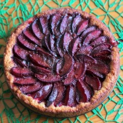 German Yeasted Plum Cake