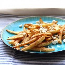 Greek Fried Potatoes with Feta
