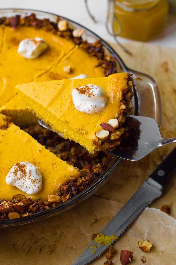 Greek Yogurt Pumpkin Cheesecake