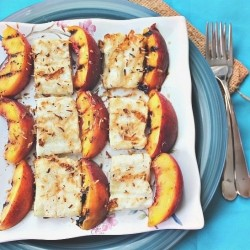 Grilled Peaches and Halloumi Recipe