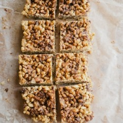 Hazelnut Rice Crispy Treats