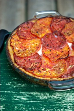 Heirloom Tomato Tart with Polenta Crust