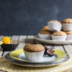 Honey Fig Bran Muffins Recipe