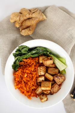 Honey Ginger Tofu and Carrots