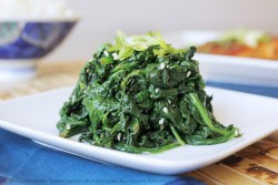Japanese Spinach Salad with Salmon