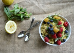 Millet Berry Salad with Herbs Dressing Recipe