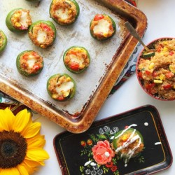 Mini Mexican-Quinoa-Stuffed Peppers