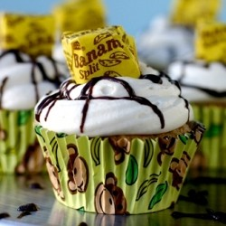 Monkey Muffins with Bananas Chocolate Chips and Cream Cheese