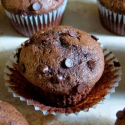 One Bowl Chocolate Banana Muffins