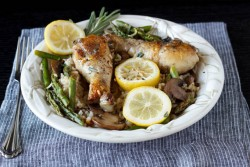One Pot Lemon Chicken with Rice
