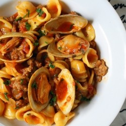 Orecchiette Paella with Clams and Italian Sausage and a 1500 Dollar Reminder