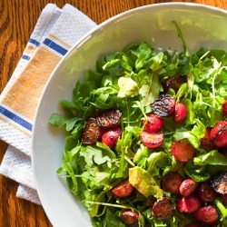Pan-Seared Radish and Avocado Salad