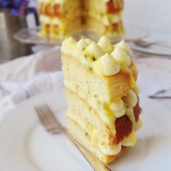 Passion Fruit Coconut Cake