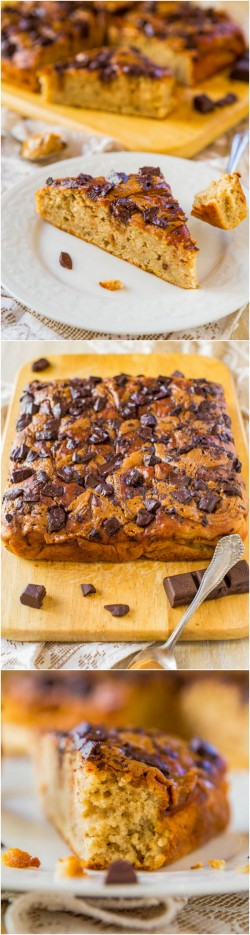 PB Chocolate Chunk Banana Cake