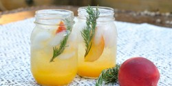 Peach-Rosemary Long Island Iced Tea