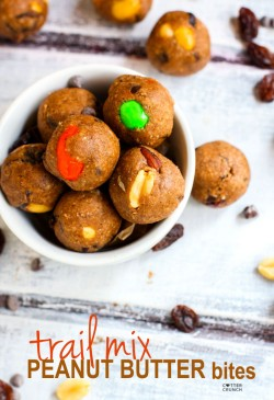 Peanut Butter Trail Mix Bites
