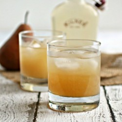 Pear and Bourbon Ginger Snap