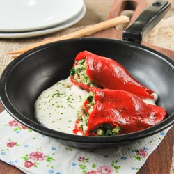 Piquillo Peppers Stuffed with Mushrooms Recipe