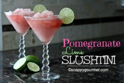 Pomegranate Lime Slushtini