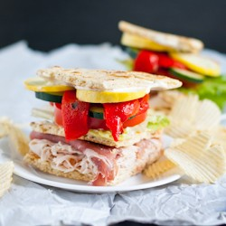 Prosciutto Chicken and Vegetables Pita Recipe