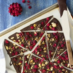 Raspberry-Almond Chocolate Bark