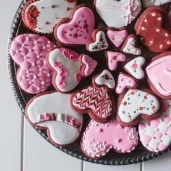 Red Velvet Valentines' Cookies