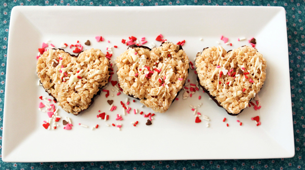 Rice Krispy Hearts