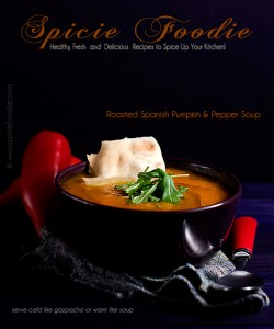 Roasted Spanish Pumpkin and Red Pepper Soup Recipe