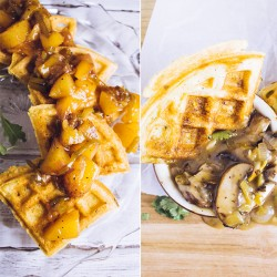 Savory Hatch Chile Waffles