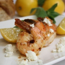 Shrimp with Lemons, Mint and Feta