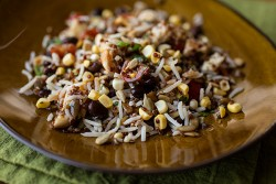 Smoky Southwestern Quinoa Basmati Rice Salad with Grilled Chicken