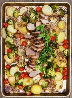Spice-Crusted Pork and Vegetables